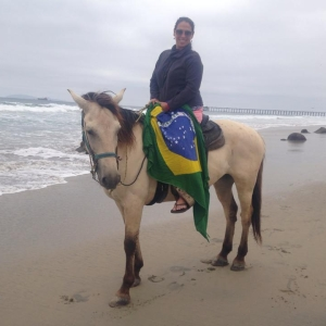 Riding on the beach in Mexico